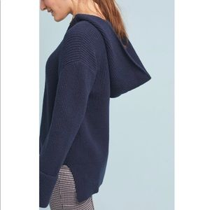 Anthropologie stitched sweater hoodie
